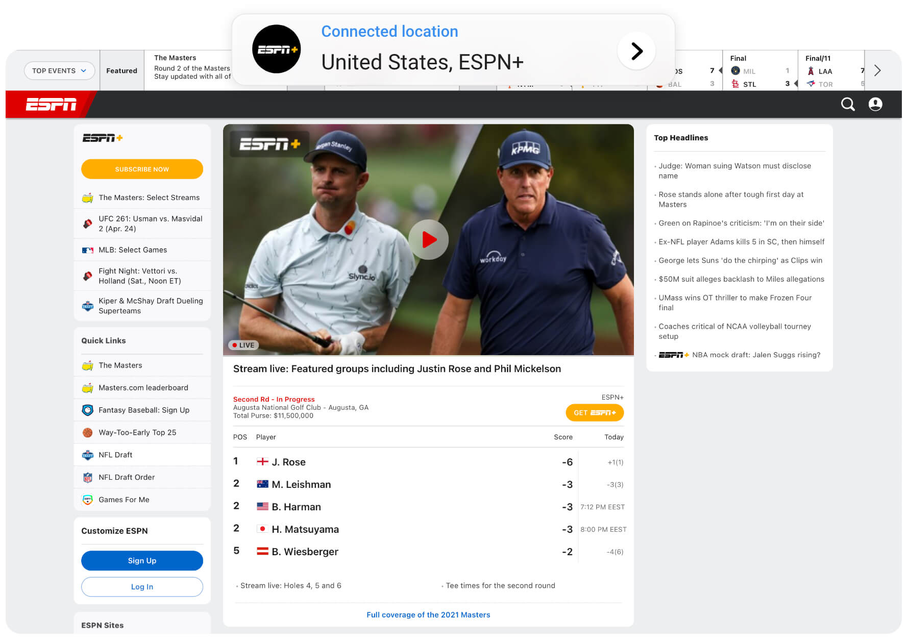 Watch ESPN, DAZN and other sports channels