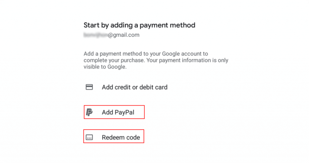 HBO PayPal payment method