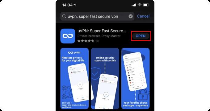 Open VPN for iPhone
