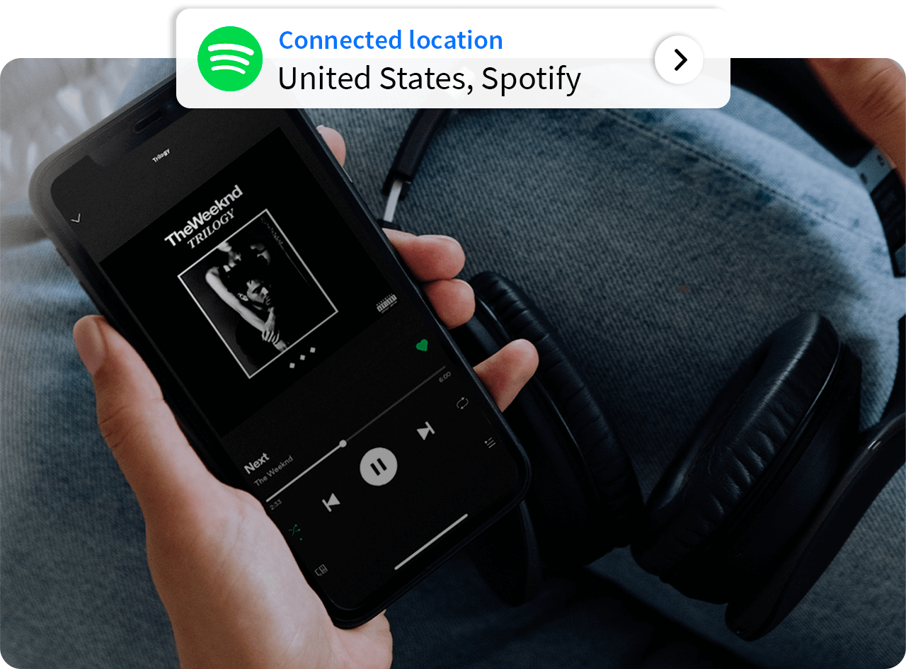Connect to the Spotify USA server